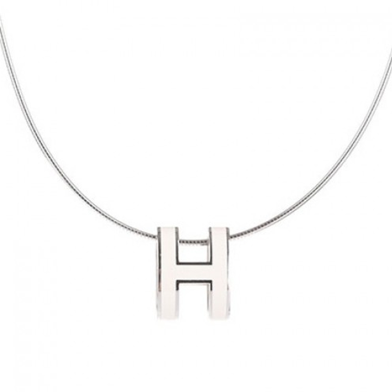 Hermes pop h pendant with necklace white online shopping malaysia hermes pop h pendant with necklace hermes lacquered pendant plated hardware length 17 color white aloadofball Gallery