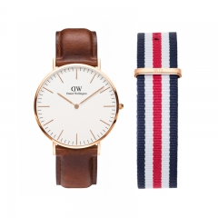 Daniel Wellington St Mawes Men Leather Watch FREE Extra Strap