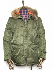 The Quilted Jacket B Green M