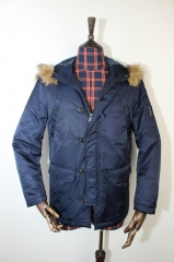 The Quilted Jacket B Blue S