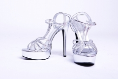 Model High Heel shoes Silver 6 inches – platform shoes for women Silver 5
