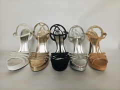 Model High Heel shoes Gold 5 inches – platform shoes for women Gold 5