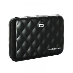 ÖGON RFID Safe Black Quilted Aluminium Wallet