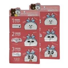 T.P.O LINE FRIENDS Korea 3 Steps Clean Nose Pack x 2 pcs