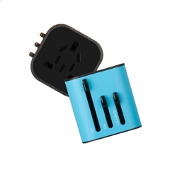 Momax 1-World Mini AC Travel Adapter - UA2 Black