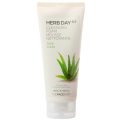 The Face Shop HERB DAY 365 Aloe Cleansing Foam 170ml