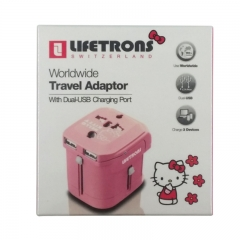 LIFETRONS SWITZERLAND Worldwide Adaptor Hello Kitty Edition