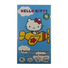 ANIMATION WORKSHOP Hello Kitty Verbatim 4 Port Travel Adapter