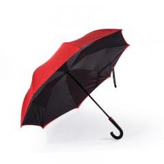 Remax Double-Deck Outward Closed Umbrella Yellow