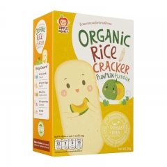 Apple Monkey Organic Rice Cracker - Pumpkin