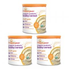 Happy Baby Organic probiotic baby cereal - Multi-grain 3 Cans