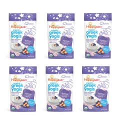 Happy Baby - Organic Greek Yogis Blueberry Purple Carrot 6 packs