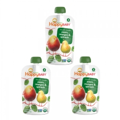 Happy Baby - Happy Pouch Pears, Mangos & Spinach  3 packs