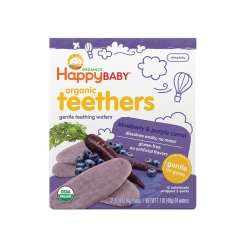 Happy Baby - Organic Teething Wafers Blueberry & Purple Carrot