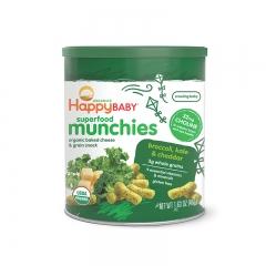 HappyBaby Organic Superfood Munchies Broccoli, Kale & Cheddar