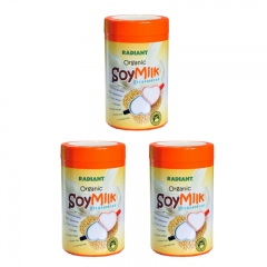 Radiant Organic Unsweetened Soy Milk Powder 600g x 3