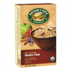Nature's Path Organic Instant Hot Oatmeal, Variety Pack 1Ctn (6 Boxes)