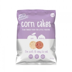 little bellies Corn Cakes Apple & Blueberry
