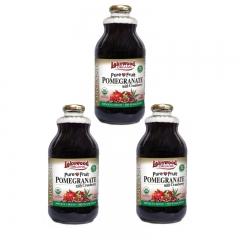 Lakewood Organic Pomegranate with Cranberry 32oz 3 bottles 32OZ