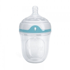 Nuby Silicone Comfort Bottle 150ML with Slow Flow Silicone Comfort Nipple & Cover
