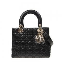 Christian Dior M0535_ONMJ_900 Lambskin Black Dior Handbag