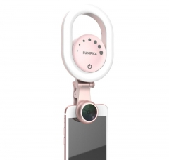 Funipica Beauty Selfie LED Light with Wide Angle Camera Lens