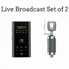 Live Broadcast Sound Card & Professional Microphone set