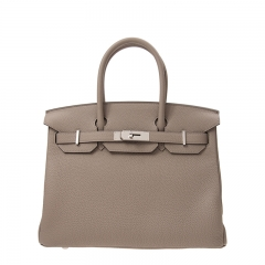 HERMES Handbag Birkin 30 M8 Grey Togo SS