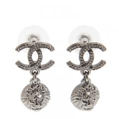 NEW CHANEL A58169 Metal Black Earrings