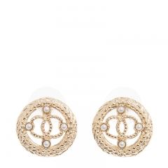 NEW CHANEL A99388 Metal Gold Earrings