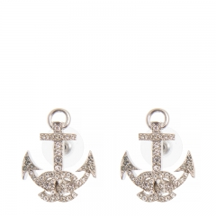 NEW CHANEL A58444 Metal Sliver Earrings