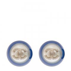 NEW CHANEL A58833 Metal Blue Earrings