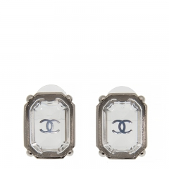 NEW CHANEL A45909 Plastic Sliver Earrings