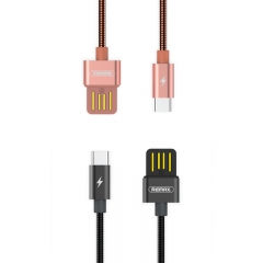 Remax Silver Serpent RC-080a Data Cable  (Type-C) Rose Gold