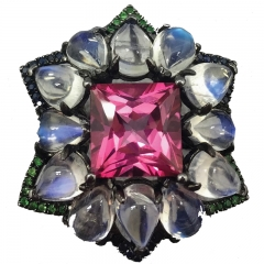 L'Victoire The Glamourous Pink Topaz Ring