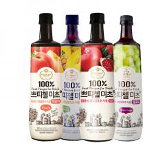 Korea CJ Petitzel Fruit Vinegar multi flavour x 4 Green Grape