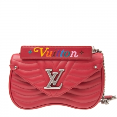 LOUIS VUITTON New Wave M51943 Red Calfskin Handbag