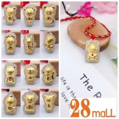 999 Gold Animal Zodiac with Jade