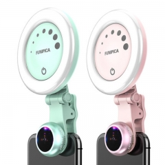 Funipica Wide Angle Camera Lens with Beauty Selfie LED Light
